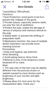 mail-order veneers description